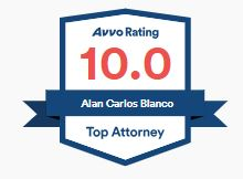 Alan Blanco AVVO Rating 10 badge