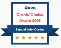 Sam Cordes AVVO Client Choice badge