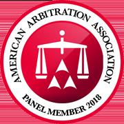 American Arbitration Association Panel Member 2018 logo