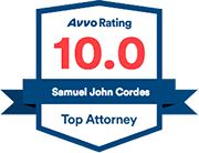 Samuel J. Cordes 10.0 AVVO Rating Top attorney