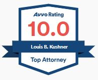 Louis Kushner AVVO Rating 10.0 badge