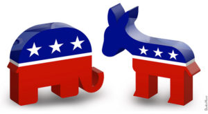 Elephant & donkey political party symbols