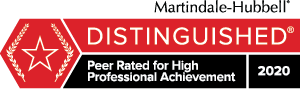 Martindale Hubbell Distinguished Badge