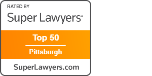 Super Lawyer Top 50 Pittsburgh badge
