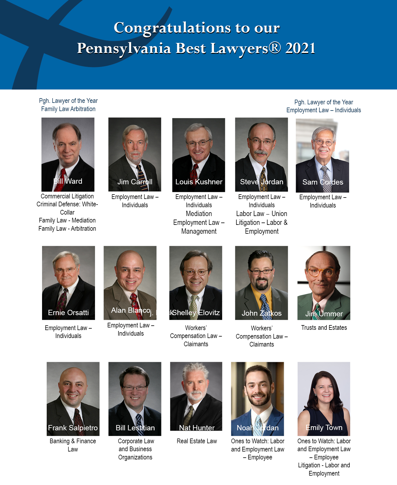 Best lawyers congratulations graphic
